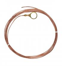 Satco Products Inc. 93/335 - 1/4 IP Round Ground Lug with 10Ft. 18/1 Bare Copper Ground Wire