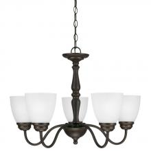 Sea Gull 3112405BLE-191 - Fluorescent Northbrook Five Light Chandelier in Roman Bronze with Satin Etched Glass