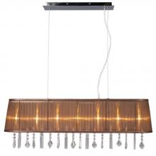 Galaxy Lighting 912213CH/BRN - Island Light - Chrome with Brown Shade