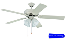 "Ellington Fan E203AW - Pro Builder 203 52"" Ceiling Fan with Light in Antique White (Blades Sold Separately)"