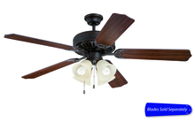 "Ellington Fan E204AG - Pro Builder 204 52"" Ceiling Fan with Light in Aged Bronze Textured (Blades Sold Separately)"