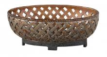 Uttermost 19539 - Uttermost Teneh Lattice Weave Design Bowl