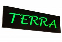 "Meyda Tiffany 152280 - 70""W Personalized Terra LED Sign"