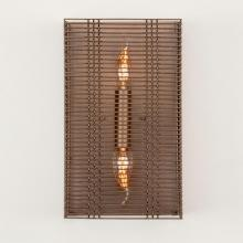 Hammerton CSB0020-13-BS-F-E1 - Downtown Mesh Cover Sconce-13