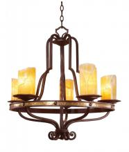 Kalco 6099TP-2/LINEN - Durango 5 Light  Chandelier