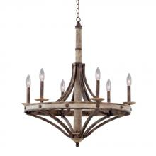 Kalco 7046FG - Coronado 6 Light Chandelier
