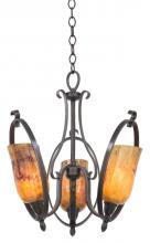 Kalco 7237FI/PENSH - Mateo 3 Light Mini Chandelier