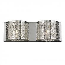 "Worldwide Lighting Corp W23143C20 - Aramis Collection 2 Light Chrome Finish and Clear Crystal Wall Sconce 20"" W x 7"" H Large"