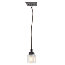 Eglo 20184A - 1x40W Mini Pendant w/ Antique Brown Finish & Clear & Frosted Glass