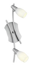 Eglo 89975A - 2x60W Track Light w/ Matte Nickel Finish & Frosted Glass