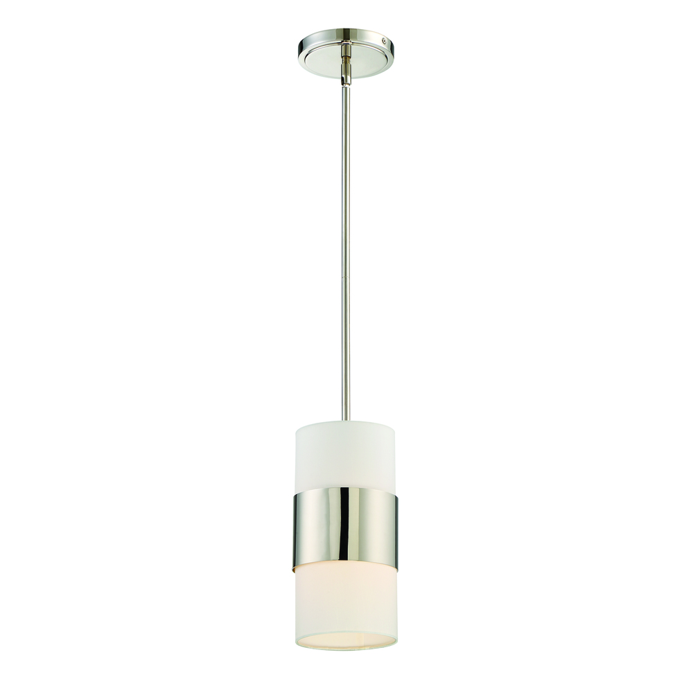 Village Lighting in Bellingham, Washington, United States,  2GLHC, Libby Langdon for Crystorama Grayson 1 Light Polished Nickel Pendant, Grayson