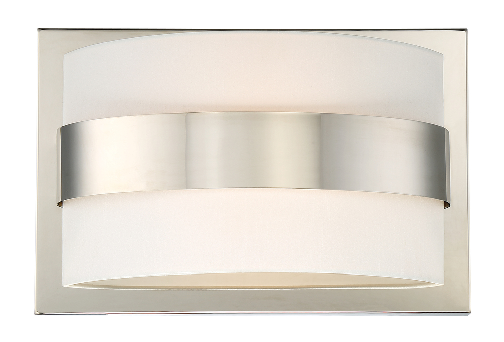 Libby Langdon for Crystorama Grayson 2 Light Polished Nickel Sconce