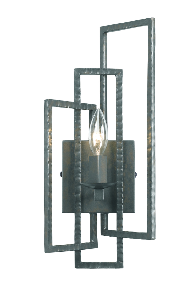 Crystorama Capri 1 Light Gray Sconce