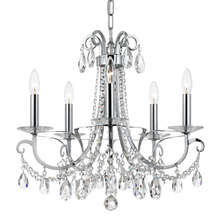 Crystorama 6825-CH-CL-MWP - Crystorama Othello 5 Light Clear Crystal Polished Chrome Chandelier