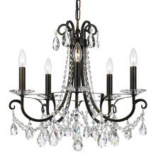 Crystorama 6825-EB-CL-MWP - Crystorama Othello 5 Light Clear Crystal English Bronze Chandelier