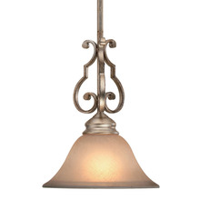 Crystorama 7521-DT - Crystorama Shelby 1 Light Distressed Twilight Pendant