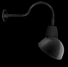 "RAB Lighting GN1LED26NSADB - GOOSENECK 24"" ARM 26W NEUTRAL LED 15"" ANGLED DOME SHADE SPOT REFLECTORECTOR BLACK"