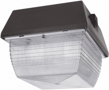 "RAB Lighting VAN3S70/PC - VANDALPROOF 9"" X 9"" CEILING 70W HPS 120V + LAMP + 120V PC BZ"
