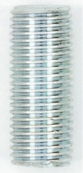 "Steel Nipple; Zinc plated; 1/4IP; 1/2"" Wide; 3-1/4"" Length"