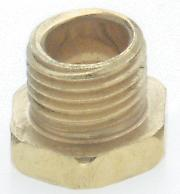 Satco Products Inc. 90/636 - Hexagon Head Nipples - Brass Plated-1/8IP 1/4""