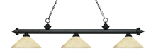 Z-Lite 200-3MB-AGM14 - 3 Light Billiard Light