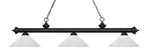Z-Lite 200-3MB-AWL14 - 3 Light Billiard Light