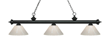 Z-Lite 200-3MB-PWH - 3 Light Billiard Light