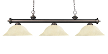 Z-Lite 200-3OB-GM16 - 3 Light Billiard Light