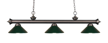 Z-Lite 200-3OB-MDG - 3 Light Billiard Light