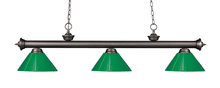 Z-Lite 200-3OB-PGR - 3 Light Billiard Light