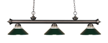 Z-Lite 200-3OB-RDG - 3 Light Billiard Light
