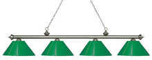 Z-Lite 200-4AS-PGR - 4 Light Island/Billiard Light