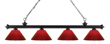 Z-Lite 200-4BRZ-PRD - 4 Light Billiard Light