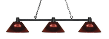 Z-Lite 314BRZ-ARBG - 3 Light Island/Billiard Light