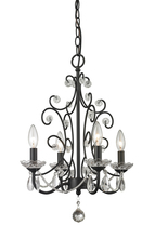 Z-Lite 421BK - 4 Light Mini Chandelier