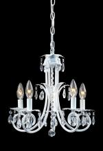 Z-Lite 853W - 5 Light Crystal Chandelier
