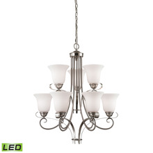 Thomas 1009CH/20-LED - Brighton 9 Light LED Chandelier In Brushed Nicke