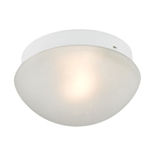 Thomas 7351FM/40 - Mushroom Flushmount 1 Light Flush In White With