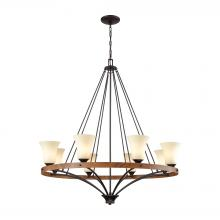 Thomas CN160821 - Park City 8 Light Chandelier In Oil Rubbed Bronz