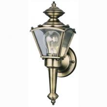 Westinghouse 6696300 - 1 Light Wall Lantern Antique Brass Finish on Steel with Clear Glass Panels