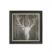 Stylecraft Home Collection WM21971 - Deer White Framed Wall Decor