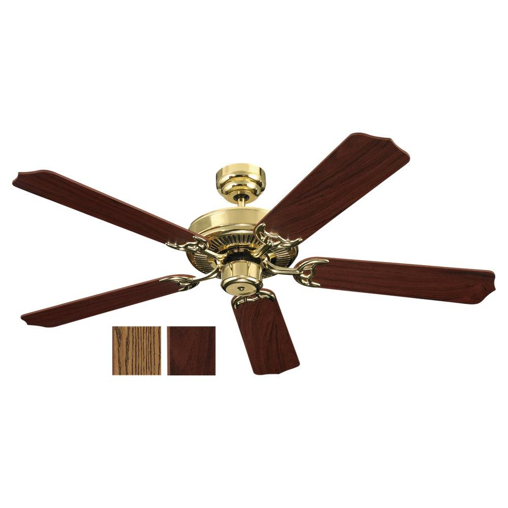 Village Lighting in Bellingham, Washington, United States,  LC37, Quality Max & Energy Star 52 Inch Ceiling Fan in Polished Brass Finish, Quality Max