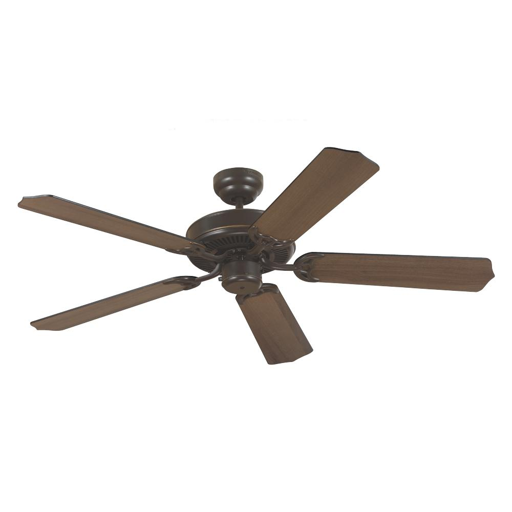 Village Lighting in Bellingham, Washington, United States,  WK0H, Quality Max Ceiling Fan in Heirloom Bronze with Cerused Oak/Ebony Blades, Quality Max