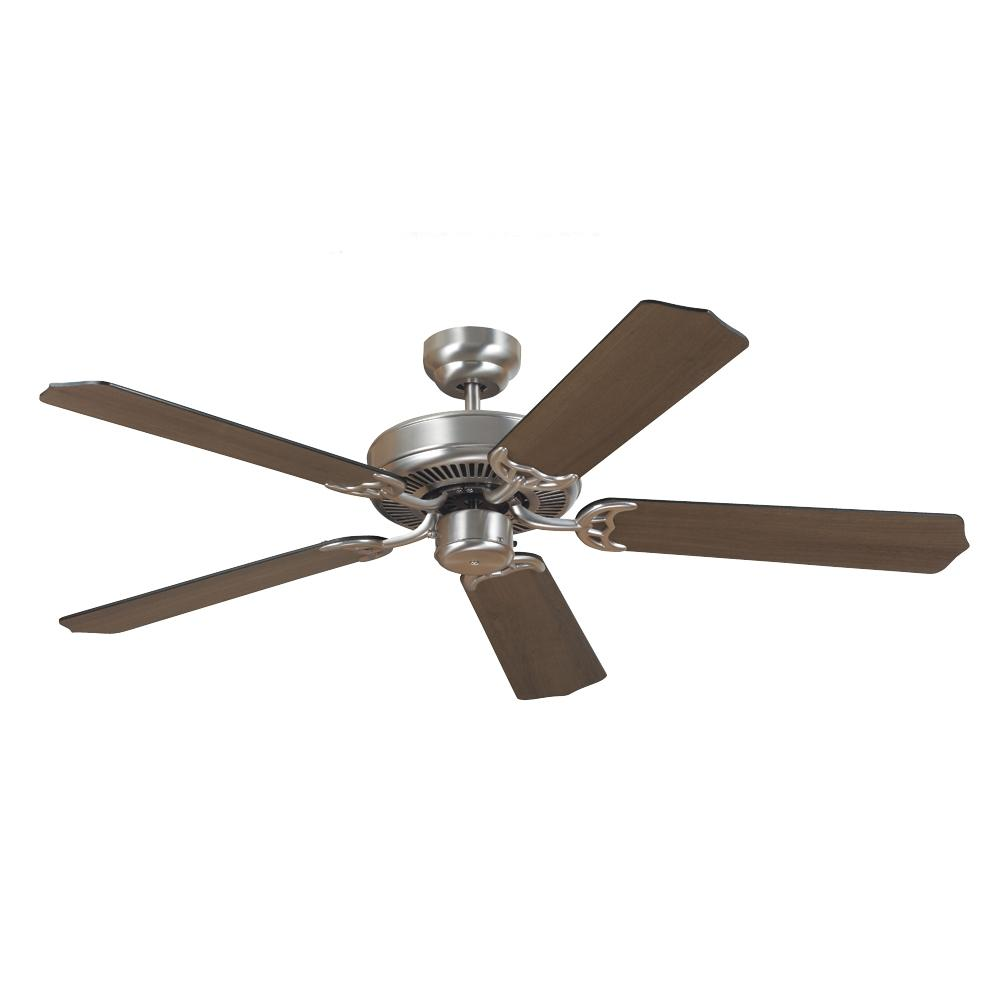 Village Lighting in Bellingham, Washington, United States,  WK0J, Quality Max Ceiling Fan in Brushed Nickel with Cerused Oak/Ebony Blades, Quality Max