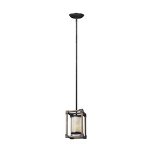 Sea Gull 6113301BLE-846 - Fluorescent Dunning One Light Mini-Pendant in Stardust with Creme Parchment Glass