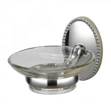 Sterling Industries 131-015 - Soap Dish Holder In Chrome / Glass