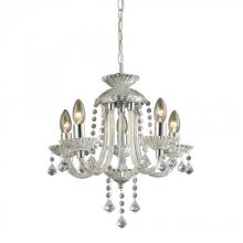Sterling Industries 144-001 - Five Light Clearchrome Up Mini Chandelier