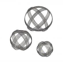 Sterling Industries 3138-274/S3 - Warp Wall Decor In Soldered Raw Iron - Set of 3