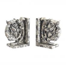 Sterling Industries 387-014/S2 - Aged Plaster Scroll Bookends