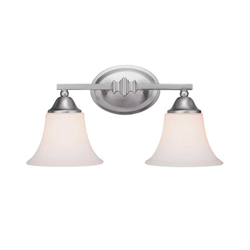 Two Light Matte Nickel Wall Light